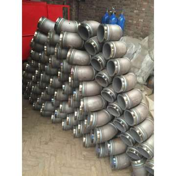 Concrete pump spare parts twin wall elbow