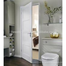 Cojín de baño de diseño simple de color blanco 4 puertas de madera de panel con cerradura privada