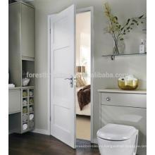 Белый цвет простой дизайн ванной комнаты шейкер 4 панели деревянные двери с индивидуальная система замков