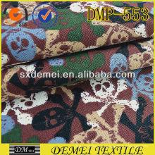 cráneo del tela de barato por mayor almohadas decorativas de la mercado de tejido de la China impresión