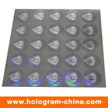 Анти-поддельные формате 2D/3D черный серийный номер голограммы стикер