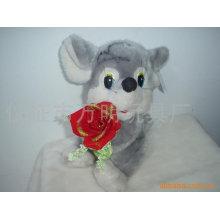 Валентинка с цветком