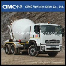 Caminhão do misturador de Isuzu Qingling Vc46 com o tanque do misturador 8-12 M3