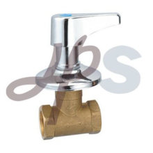 brass forged stop valve with zinc cross handle