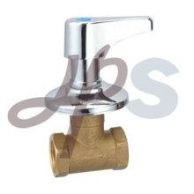 válvula de parada de latão forjado com zinco cruzado