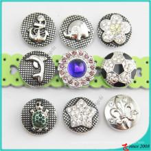 Nouveau style métal Snaps Charm bouton bijoux