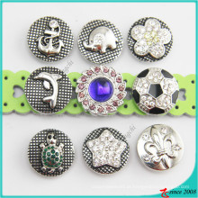 O estilo novo Metal Snaps Charm Button Jewelry