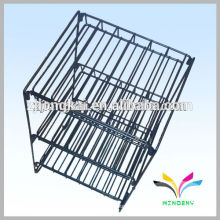 Fashion design floor adjustable metal sturdy knock down cosmetic product display stand