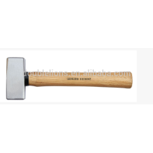 German type stone Hammer with hickory wood handle