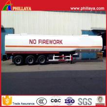 Tanque de combustível diesel de aço do reboque do caminhão do transporte do petroleiro de óleo semi