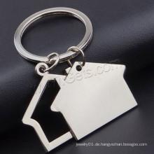 Haus Zink-Legierung Schlüsselanhänger Schmuck mit Eisen Ring