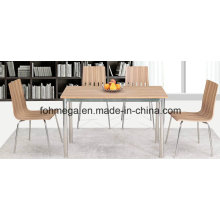 Good Quality Rectangle Restaurant Table with 4 Chairs (FOH-BC24)