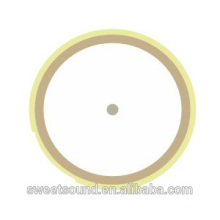 5.0khz 21mm double side ceramic bimorph piezo crystal