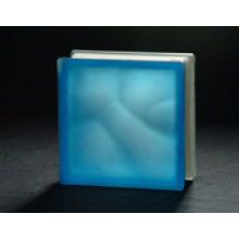190 * 190 * 80mm Acid Blue Bewölkter Glasblock