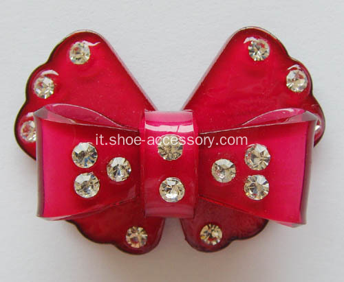 Red bowknot acrilico strass Buckle