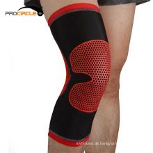 Elastische Leichtathletik-Kompressions-Hülsen-Knie-Stützklammer