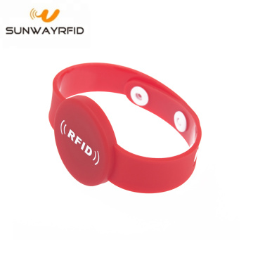One-time Button 13,56 mhz RFID Polsband NFC Smart Armband