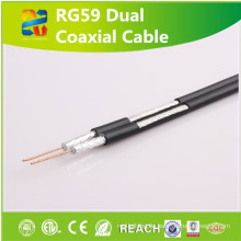 UL ETL CCTV Rg59 Siamese Kabel Rg59 Koaxialkabel