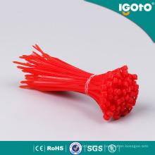 Laços de cabo de plástico fio Laços de cabo preto de auto-bloqueio