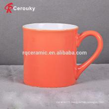 Orange color 350ml ceramic stoneware milk mug