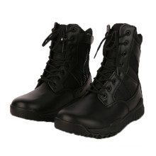 Hochwertige schwarze Leder Armee Kampf Stiefel Dschungel Tacticl Stiefel
