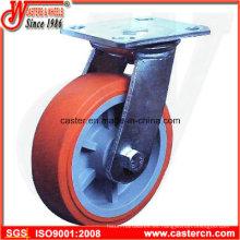 4 pulgadas a 6 pulgadas de PU en ruedas giratorias PP