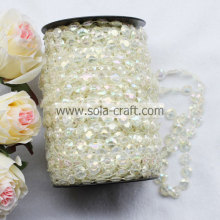 30M Length Crystal Pearl Beaded Garland Diamond Roll for Christmas Tree Decoration