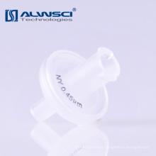 Clear White Lab Filtro de jeringa de membrana de nylon de 0,45 micras para la preparación de muestras HPLC