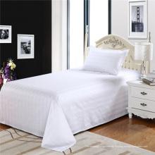 Feuille plate élégante en coton pur et élégant pour le linge de lit (WSFS-2016003)