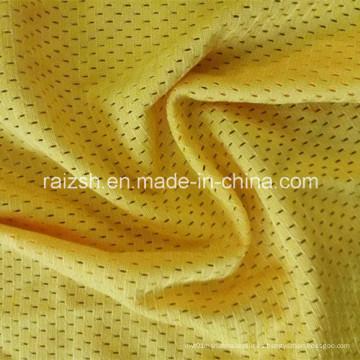 Buen material de malla de poliéster de tela de malla Birdseye para humedad Wicking
