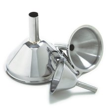 Stainless Steel Large Funnel With Detachable Strainer