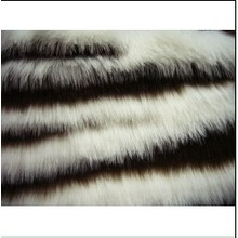 Factory wholesale price for Long Hair Faux Fur Jacquard Faux  Fabric Fur supply to Micronesia Supplier