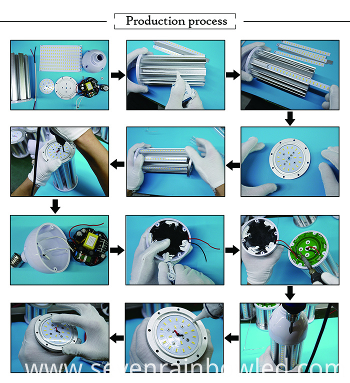 process of led corn light