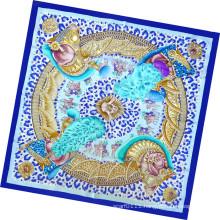 Lady Fashion Printed Silk Square Scarf (HC1304)