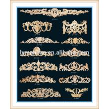 chinês melhor venda de artesanato de madeira moldagem decorativa antigo quadro da cama de madeira