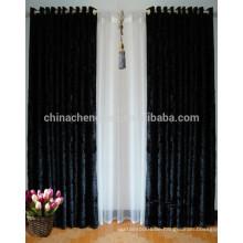 Neueste Design schwarz schweren Vorhang Samt Stoff Bühnenvorhang