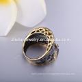 Античные ювелирные изделия кольца женские перстни с черной плакировкой золота ювелирных изделий кольца
