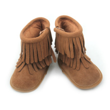 Wholesale Winter Brown Baby Genuine Leather Boots