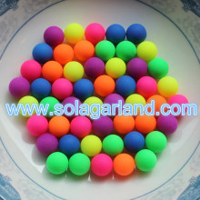 6/8/10/12MM Acrylic Round Rubber Coated Chunky No Hole Beads