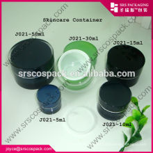 China Yellow Round Shape Cream Jar 5ml 10ml 15ml 30ml 50ml 100ml 200ml Cosmetic Mask Packaging
