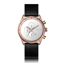 luxury big geniune leather straps watch