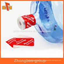 Étiquette d'étanchéité de bouteille d'eau ouverte et rétractable facile avec bande de déchirure