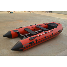 5 Persons Red&Black Merine River Inflatable Rowing Boat SD360 with Outboard