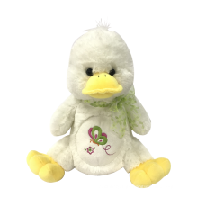 Plush Little Duck With Ribbon