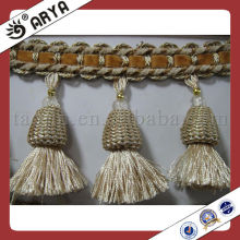 curtain accessory of tassel fringe,high quality fringe for decoration curtain