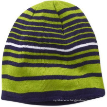 15PKB003 2016-17 latest trendy strip knit beanie