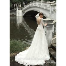 ZM16002 Romantische griechische Brautkleider mit Backless Design und Organza Follower Schärpe Vintage Heirat Kleid für die Braut