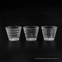 Taza de medición transparente de plástico PS