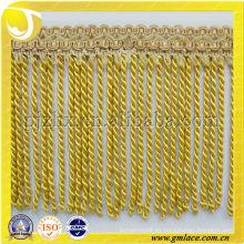 Franjas de la borla de la cortina del lingote usadas para los cojines, la tapicería, la tapicería, el sofá y la decoración accesoria