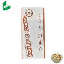 Sacos de papel de pipoca de micro-ondas para embalagens seláveis de fast food Kraft